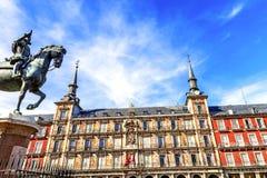 plaza Ισπανία δημάρχου της Μαδρίτης Στοκ φωτογραφία με δικαίωμα ελεύθερης χρήσης