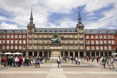 plaza Ισπανία δημάρχου της Μαδρίτης Στοκ Φωτογραφία