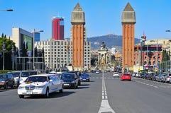 plaza Ισπανία της Βαρκελώνης de espanya Στοκ φωτογραφίες με δικαίωμα ελεύθερης χρήσης