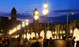 plaza Ισπανία της Βαρκελώνης de espa Στοκ Εικόνες