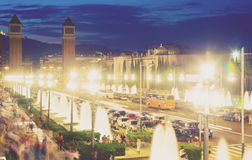 plaza Ισπανία της Βαρκελώνης de espa Στοκ εικόνες με δικαίωμα ελεύθερης χρήσης