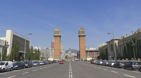plaza Ισπανία της Βαρκελώνης de espanya Στοκ φωτογραφία με δικαίωμα ελεύθερης χρήσης