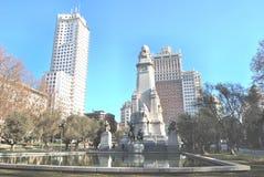 plaza Ισπανία της Μαδρίτης Στοκ Εικόνες