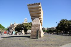 plaza Ισπανία catalunya της Βαρκελώνη&sigma Στοκ εικόνα με δικαίωμα ελεύθερης χρήσης