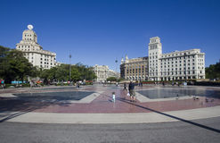 plaza Ισπανία catalunya της Βαρκελώνη&sigma Στοκ Φωτογραφίες