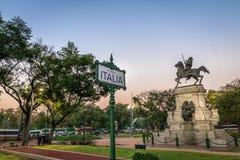 Plaza Ιταλία στο Παλέρμο - το Μπουένος Άιρες, Αργεντινή Στοκ Εικόνες