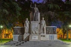 Plaza Ιταλία Mendoza Αργεντινή Στοκ εικόνα με δικαίωμα ελεύθερης χρήσης