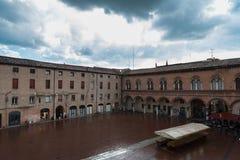 Plaza μπροστά από το Δημαρχείο της πόλης της φερράρα Στοκ φωτογραφία με δικαίωμα ελεύθερης χρήσης