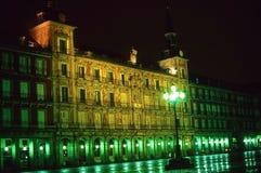 plaza νύχτας δημάρχου της Μαδρίτης Στοκ εικόνες με δικαίωμα ελεύθερης χρήσης