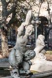 plaza Ουρουγουάη του Μοντεβίδεο ν constituci Στοκ Εικόνα
