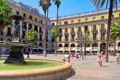 plaza πραγματική Ισπανία της Βαρκελώνης Στοκ φωτογραφία με δικαίωμα ελεύθερης χρήσης