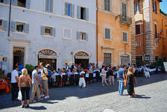 Plaza Ρώμη Ιταλία οδών Στοκ φωτογραφία με δικαίωμα ελεύθερης χρήσης