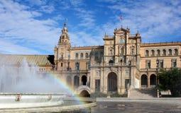 plaza Σεβίλη Ισπανία Ανδαλο&upsilon Στοκ εικόνα με δικαίωμα ελεύθερης χρήσης