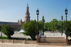 plaza Σεβίλη de espana Στοκ φωτογραφίες με δικαίωμα ελεύθερης χρήσης