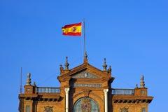 plaza Σεβίλλη ισπανικά σημαιών d Στοκ Φωτογραφίες