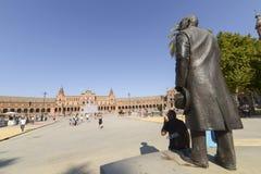 plaza Σεβίλη Ισπανία της Ανδαλουσίας de espana Ευρώπη Στοκ εικόνες με δικαίωμα ελεύθερης χρήσης