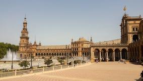 plaza Σεβίλη Ισπανία της Ανδαλουσίας de espana Ευρώπη Στοκ Φωτογραφία