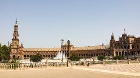 plaza Σεβίλη Ισπανία της Ανδαλουσίας de espana Ευρώπη Στοκ φωτογραφίες με δικαίωμα ελεύθερης χρήσης