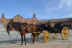 plaza Σεβίλη Ισπανία de espana Στοκ εικόνα με δικαίωμα ελεύθερης χρήσης