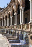 plaza Σεβίλη Ισπανία de espana Στοκ Εικόνες