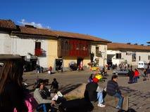 Plaza σε Cusco, Περού Στοκ Φωτογραφίες