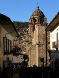 Plaza σε Cusco, Περού Στοκ Φωτογραφία