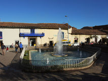 Plaza σε Cusco, Περού Στοκ φωτογραφία με δικαίωμα ελεύθερης χρήσης