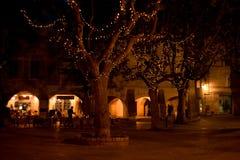 Plaza σε Uzes Γαλλία τή νύχτα Στοκ Εικόνα