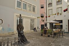 Plaza στην παλαιά πόλη της Κοΐμπρα Στοκ εικόνες με δικαίωμα ελεύθερης χρήσης