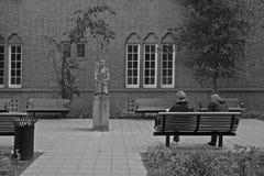 Plaza στην προηγούμενη έδρα Gestapo σε Euterpestraat 99 στο Άμστερνταμ Στοκ εικόνα με δικαίωμα ελεύθερης χρήσης