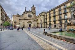 Plaza στη Βαρκελώνη, Ισπανία Στοκ Εικόνες