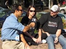 plaza συνέντευξης ελευθερί& Στοκ Εικόνα