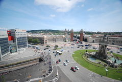plaza της Βαρκελώνης de espanya Στοκ Εικόνα