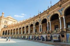 Plaza της Ισπανίας, Σεβίλη, Ανδαλουσία, Ισπανία Στοκ εικόνες με δικαίωμα ελεύθερης χρήσης