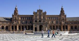 Plaza της Ισπανίας (Σεβίλλη) Στοκ φωτογραφία με δικαίωμα ελεύθερης χρήσης