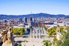 Plaza της Ισπανίας στη Βαρκελώνη Ισπανία Στοκ Εικόνες
