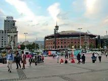 Plaza της Ισπανίας στη Βαρκελώνη, Ισπανία Στοκ Εικόνες