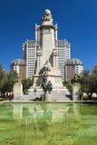 Plaza της Ισπανίας στη Μαδρίτη, Ισπανία Στοκ Εικόνα