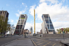 plaza της Καστίλλης Μαδρίτη Στοκ φωτογραφία με δικαίωμα ελεύθερης χρήσης