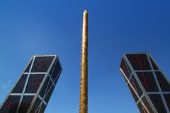 plaza της Καστίλλης Μαδρίτη castellana &k Στοκ φωτογραφία με δικαίωμα ελεύθερης χρήσης