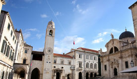 plaza της Κροατίας dubrovnik stradun Στοκ φωτογραφίες με δικαίωμα ελεύθερης χρήσης