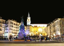 Plaza του Andre Μαρία Zuriaren, βασκική χώρα vitoria-Gasteiz Στοκ Εικόνες