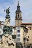 Plaza του Andre Μαρία Zuriaren, βασκική χώρα vitoria-Gasteiz Στοκ εικόνα με δικαίωμα ελεύθερης χρήσης