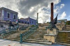 Plaza των πέντε αιώνων - San Juan, Πουέρτο Ρίκο Στοκ φωτογραφία με δικαίωμα ελεύθερης χρήσης