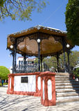Plaza. A kiosk in a plaza. Small town in Mexico Stock Photography