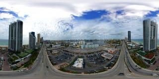 Plaza aerea Collins di Sunny Isles Beach FL RK di panorama del fuco 360 Fotografia Stock