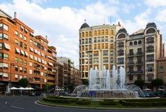 Plaza Alferez προσωρινό rioja Ισπανία Λα Στοκ Εικόνα