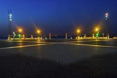 Plaza all'alba dal fiume Immagine Stock Libera da Diritti