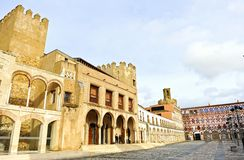Plaza Alta και Alcazaba Badajoz, Εστρεμαδούρα, Ισπανία Στοκ φωτογραφία με δικαίωμα ελεύθερης χρήσης