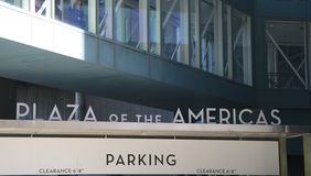 Plaza of the Americas Parking Stock Images